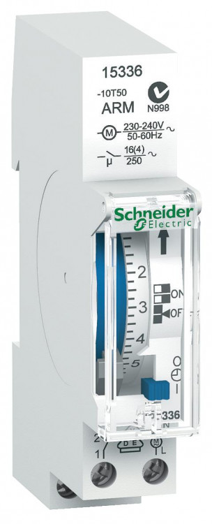 РЕЛЕ ВРЕМ. ЭЛ.МЕХ. IH 18MM 24ЧАСА 1КАНАЛ Schneider Electric